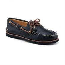 Sperry Sperry Men's Gold Authentic Original 2-Eye Black Shoes